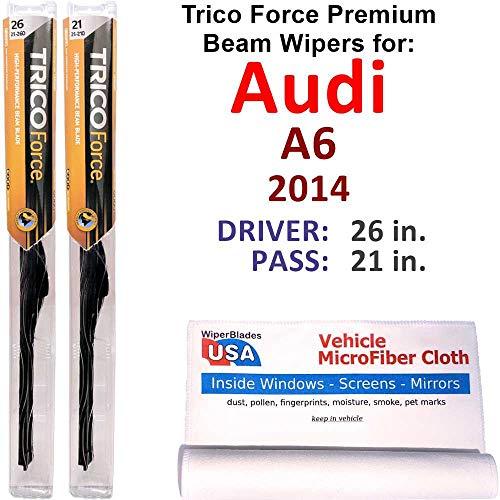 Premium Beam Wiper Blades for 2014 Audi A6 Set Trico Force Beam Blades...
