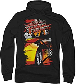 Tokyo Drift - Mens Drifting Crew Hoodie XXX-Large Black