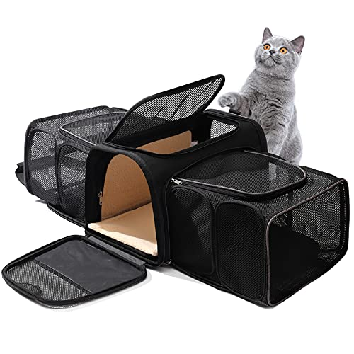 DHSFKBE TSA Approved Pet Carrier Expandable Airline Approved Cat Dog Carrier Bag Portable Soft Sided Carriers for Pets Under 20 Lbs