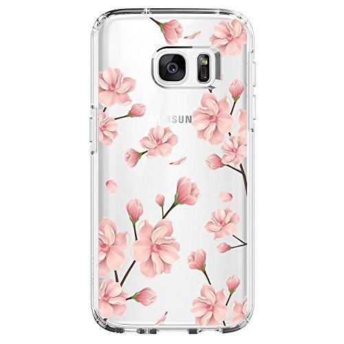 Kompatibel mit Samsung Galaxy S6 Hülle,Galaxy S6 Edge Schutzhülle Silikon Silikonhülle Transparent TPU Bumper Schutz Handytasche Handyhülle Schale Case Cover für S6 Edge (Blume2, Galaxy S6 Edge)