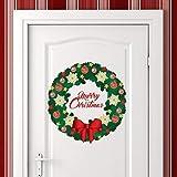 Wallflexi Pared Feliz Navidad Guirnalda de Navidad Decoraciones Pegatinas de Pared murales...