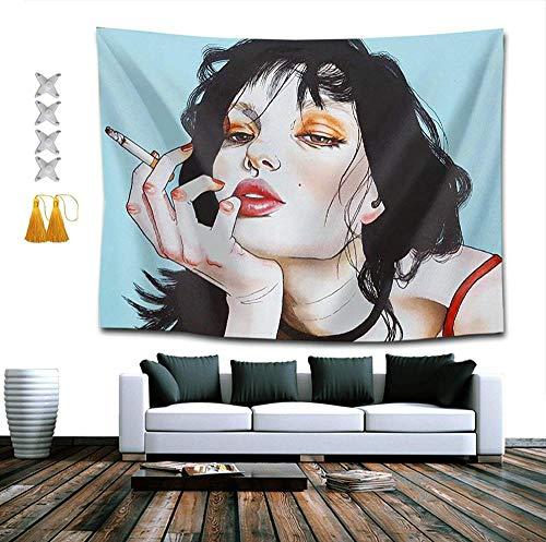 LDHHZ Tapiz de Pared de Humo de Mujer g¨Tica para Dormitorio, Sala de Estar, Dormitorio 200x150cm