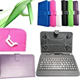 DYYSELLS 7 Key PURPLE-04 - Funda de Piel sintética con Teclado USB para Tablet de 7' y 8'