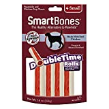 Smart Bones 923050 DoubleTime Rolls with Long-Lasting Chew Center, Chicken,Small - 4 pieces/pack