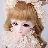 BJD Dolls, 1/4 SD Doll 16 Inch Joints Puede Mover Juguetes de Bricolaje con Set Completo de Ropa, Zapatos, Maquillaje, Mejor Regalo para niñas, A