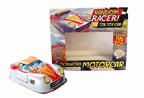 NEW RANDOM RACER TIN TOY CLOCKWORK CAR COLLECTOR ITEM GIFT HOM by House of Marbles