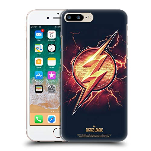 Head Case Designs Oficial Justice League Movie El Flash 2 Logotipos Carcasa rígida Compatible con Apple iPhone 7 Plus/iPhone 8 Plus