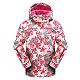 PHIBEE Girls' Sportswear Waterproof Windproof Snowboard Ski Jacket Red 12