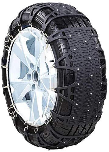 Wangcong Cadenas de Nieve universales para automóviles, fáciles de Montar, tendones de Engrosamiento de Cadenas de Nieve para neumáticos de automóviles, TPU para automóviles Todoterreno, 185 6