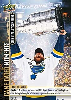 2018-19 ST LOUIS BLUES STANLEY CUP CHAMPS UPPER DECK GAME DATED MOMENTS CARD 103 + TOPLOADER
