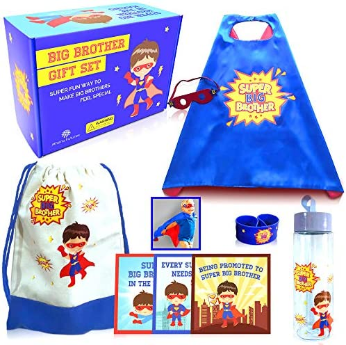 Big Brother Gift Set For Toddler Boys 6 Pieces Superhero Package for Older Sibling Hero Costume product image