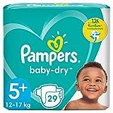 Pampers Baby-Dry Größe 5+, 29 Windeln, bis zu...