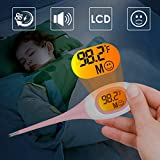 8S Fast Reading Thermometer for Adults, Baby Thermometer,Digital Thermometer for Oral Ráctal Armpit Fever Indicator Flexible Tips Waterproof Medical Thermometer