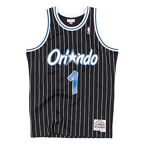 Mitchell & Ness Orlando Magic Tracy McGrady Swingman Jersey NBA Throwback Black (Small)
