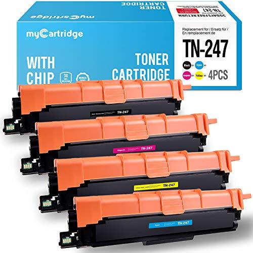 MyCartridge Compatibile Brother TN247 TN-247 (Con Chip) per Brother DCP-L3550CDW DCP-L3730CDW DCP-3517CDW HL-L3210CW HL-L3230DW MFC-L3710CW MFC-L3750CDW MFC-L3770