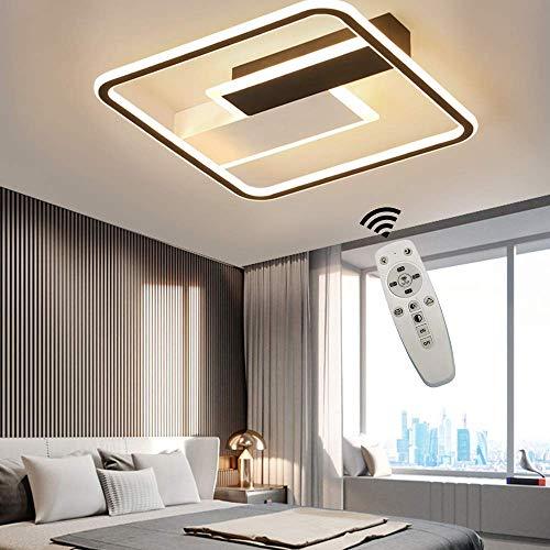 60W LED Dimmbare Deckenleuchte mit Fernbedienung, 50cm Moderne Deckenlampe Einfache Rechteckige Leuchte für Wohnzimmer, Schlafzimmer Büro Halle Flur Dekor Lampe