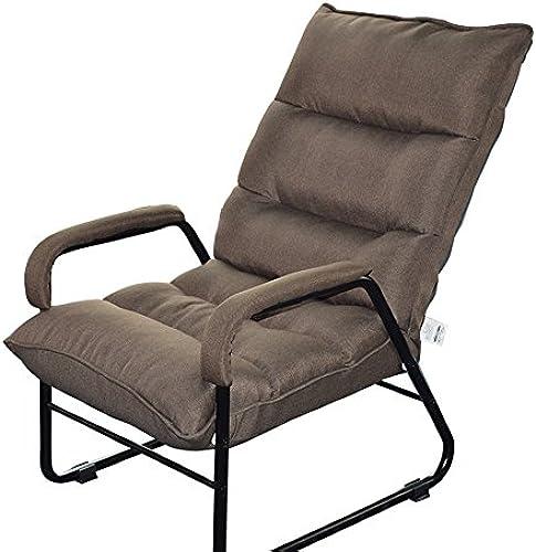 Stühle FEI Bequem Lazy Sofa Single Folding Mittagspause Freizeit Computer Schlafsaal Lounge Stark und langlebig (Farbe   Camel Farbe)
