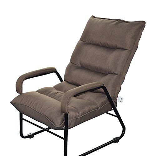 ZHANGRONG- Sofa paresseux unique pliant déjeuner pause chaise Loisirs ordinateur chaise dortoir Lounge Chairs -Tabouret de canapé (Couleur : Camel color)