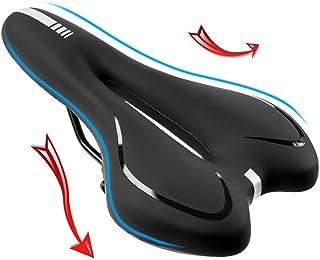 RANRANHOME Mountainbike-säte, bekväm gel cykel sadel vadderad, andningsbar ihålig design, vattentät slitstark MTB vägcykel...
