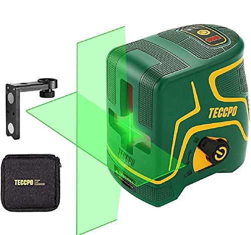 Niveau Laser,USB Charge,Laser Croix Vert 30m TECCPO,pour la Décoration Intérieure,Autonivellement...