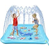 Growsly Splash Pad for Toddlers, Outdoor Sprinkler for Kids, 67' Summer Water Toys Inflatable Wading Baby Pool Fun Gifts for 2 3 4 5 6 7 Years Old Boy Girl Backyard Garden Lawn Outdoor Games