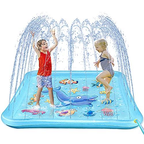 Growsly Splash Pad for Toddlers, Outdoor Sprinkler for Kids, 67