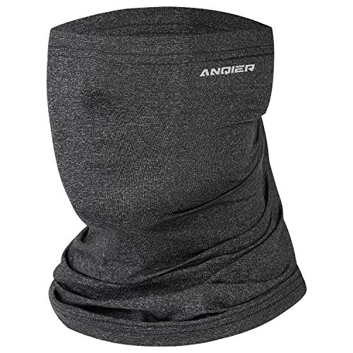 Benirap Neck Gaiter Face Mask Reusable, Washable Cloth Face Scarf Bandana Windproof Breathable Headband for Men Women Dark Gray