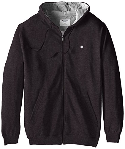 Champion Men's Big-Tall Full Zip Fleece Hoodie, Charcoal Heather, 5X