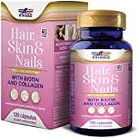 Hair Skin & Nails (Cabelo pele e unhas) Vitgold 120 cápsulas