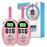 Ushining Walkie Talkie para Niños, Walkie Talkie Recargable con Radio de 2 vías 16 Canales Función VOX 10 Tonos de Llamada LCD Retroiluminado Linterna, Regalo para Niños y Niñas