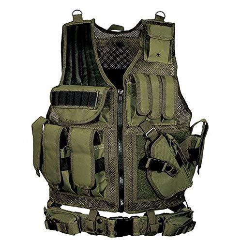 LTXDJ Chaleco táctico, Chaleco de Asalto Militar Suministros de Equipo para Exteriores o Paintball Caza Disparos Swat CS Juego Entrenamiento de Combate