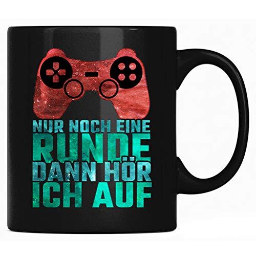 Nur noch eine Runde dann hör ich auf - Spruch Kaffee Tasse lustig Kaffeetasse Kaffeebecher Geschenk - Gamer Tassen mit Sprüchen - Gaming Geschenkidee
