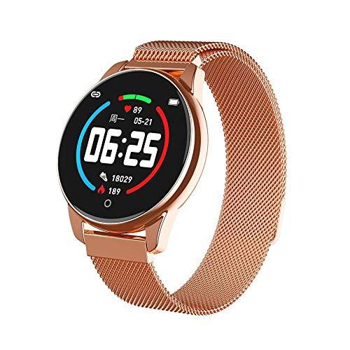 NUNGBE Sport Smartwatch, Damen Herren Smartwatch, Pulsoximeter kann messen, Blutdruck Herzfrequenzmesser Uhr, Fitnessuhr, Android IOS-Gold