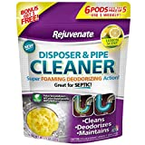 Rejuvenate Garbage Disposal and Drain Pipe Cleaner Powerful Foaming Action and Removes Garbage Disposal Smells 6 Unit Pack Lemon Scent