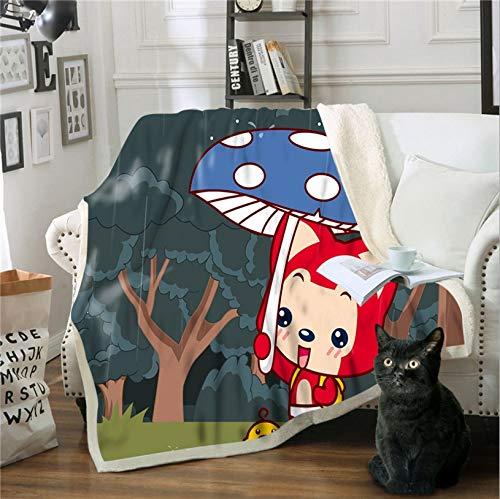 Zenghh Couverture Red Fox design drap de lit et lumière Super Soft Keep The Sucettes Belle Enfance Doux Enfants Microfibre adulte Blanket canapé ou canapé Bureau Voyage Chaise utilisation de la climat