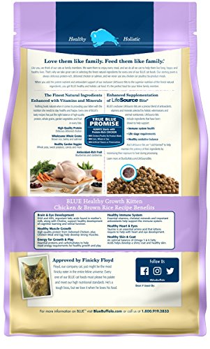 Blue Buffalo Healthy Growth Natural Kitten Dry Cat Food, Chicken & Brown Rice 7-lb