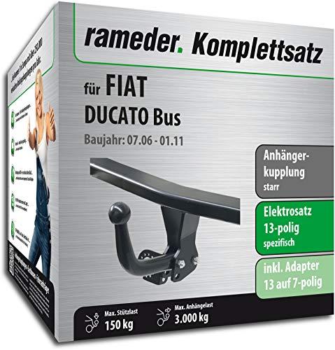 Rameder Komplettsatz, Anhängerkupplung starr + 13pol Elektrik für FIAT DUCATO Bus (113388-05630-2)