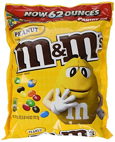 M&M Peanut Candy, 62 Ounce