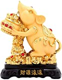 FTFTO Living Equipment Shakin Feng Shui Estatua Zodíaco Chino Animal Ratón/Rata Decoración de Mesa Estatuilla Colección de Regalos Escultura de Riqueza y Buena Suerte Adornos Decoración