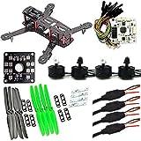 HSF Mini QAV250 C250 250mm Quadcopter Race Drone Copter Frame Kit ARF+ CC3D Flight Controller + MT2204 2300KV Motor + Simonk 12A ESC + 5030 propeller