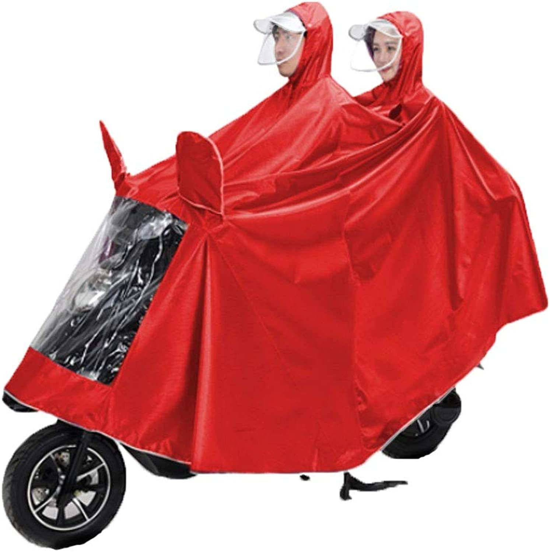 SYJP Raincoat  Add Thick Double Jacquard Double Cap Riding Poncho