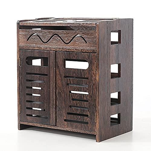 Set-top box rack, rack de enrutador inalámbrico sala de estar montado en la pared WiFi caja de almacenamiento decodificador de pared plug-in/A / 37 * 32 * 21cm