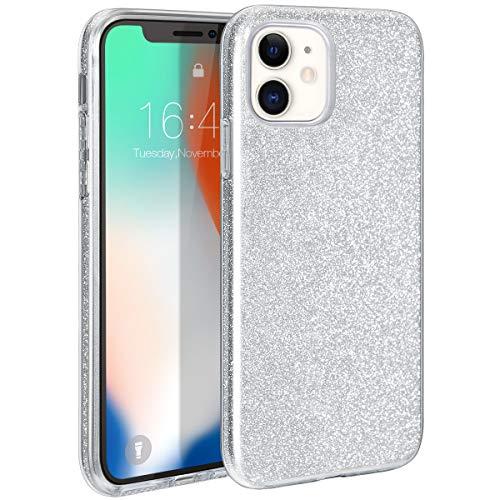 ZELAXY - Carcasa para iPhone 11, diseño de purpurina brillante y brillante, 3 capas híbrida antigolpes para iPhone 11 de 15,5 pulgadas (2019),...