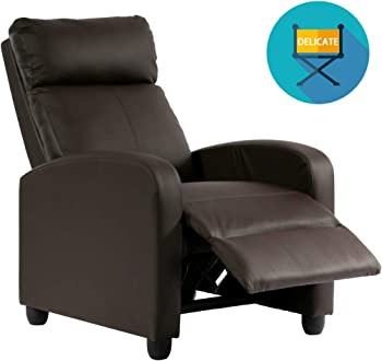 FDW U Leather Recliner Chair