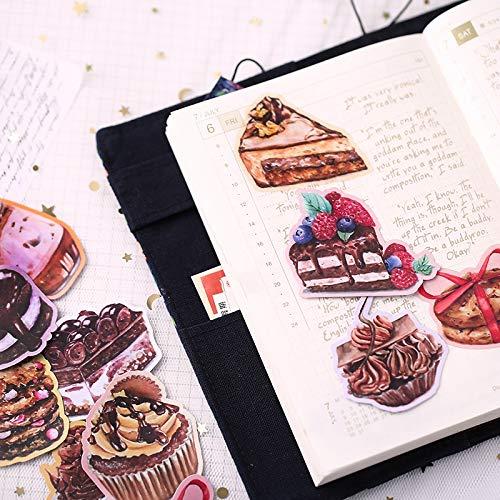 21 Stück/Packung Nettes Handbuch Essen Aufkleber Aquarell Handbuch Dekoration Literatur und Kunst Kleines frisches Material Liebe, Schokolade