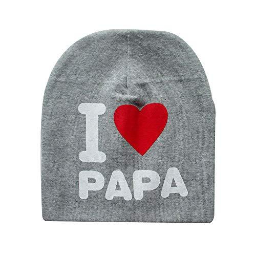 styleinside Chapeau Bébé, I Love Mama/Papa Lettre Imprimer Bonnet Fille Bonnet Fille Élastique Chapeau Extérieur Crâne, Gris
