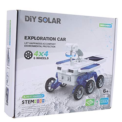 bizofft Juguete para Coche con energía Solar, Modelo eléctrico con energía Solar para más de 6 años para niños((Self-Assembled Electric Model Car))