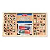 Melissa & Doug Holzstempel-Set Alphabet (57 Teile)