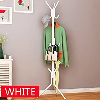 House of Quirk Aluminum Coat Rack Hanger (173.99 cm x 43 cm x 16.99 cm, White)