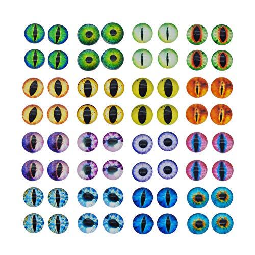 Julie Wang Drachenaugen-Cabochons aus Glas, r&, sortierte Größen, 1 Pack/60 Stück, glas, 12 mm